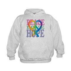 PeaceLoveRibbon_4 Hoodie