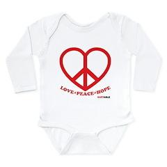 Peace+Love=Hope Long Sleeve Infant Bodysuit