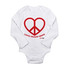 Peace+Love=Hope Long Sleeve Infant Bodysuit