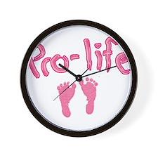 Pro Life _1 Wall Clock