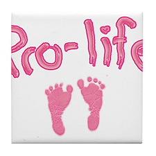 Pro Life _1 Tile Coaster