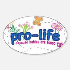 Pro-Life Flowers & Butterfly Decal