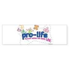 Pro-Life Flowers & Butterfly Bumper Sticker