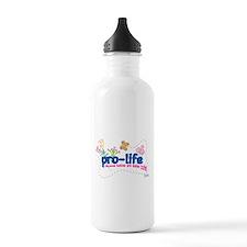 Pro-Life Flowers & Butterfly Water Bottle