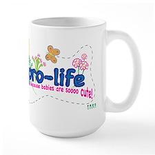 Pro-Life Flowers & Butterfly Mug