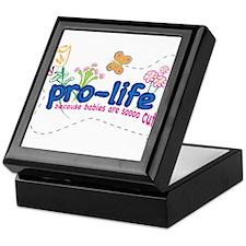 Pro-Life Flowers & Butterfly Keepsake Box