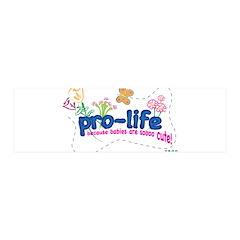 Pro-Life Flowers & Butterfly 21x7 Wall Peel