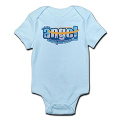 let an angel touch your heart Infant Bodysuit