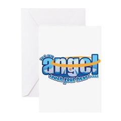 let an angel touch your heart Greeting Cards (Pk o