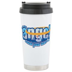 let an angel touch your heart Travel Mug