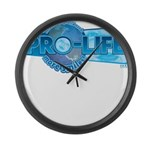 Pro-Life more smiles! Large Wall Clock