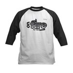 On Fire for the Lord 2 black Kids Baseball Jersey