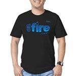 On Fire for the Lord 2 blue Men's Fitted T-Shirt (