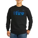 On Fire for the Lord 2 blue Long Sleeve Dark T-Shi