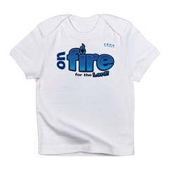 On Fire for the Lord 2 blue Infant T-Shirt