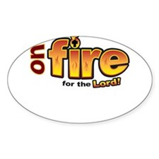 On Fire for the Lord 2 red Decal