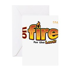 On Fire for the Lord 2 red Greeting Card