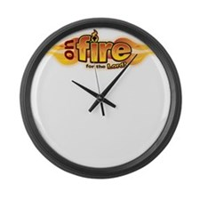 On Fire for the Lord Large Wall Clock