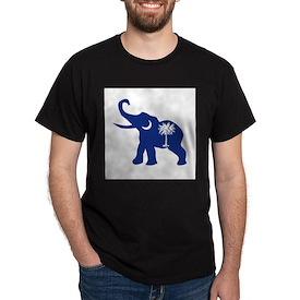 South Carolina Republican Elephant Flag T-Shirt
