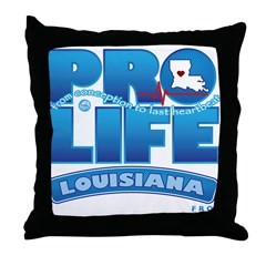Pro-Life, from conception to Throw Pillow