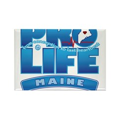 Pro-Life, from conception to Rectangle Magnet (100