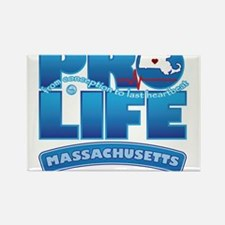 Pro-Life, from conception to Rectangle Magnet