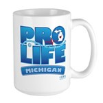 Pro-Life, from conception to Large Mug