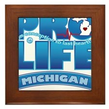 Pro-Life, from conception to Framed Tile