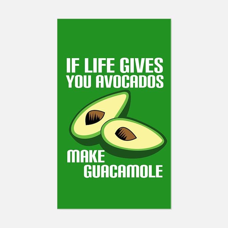 Avocado Humor Sticker (Rectangle)