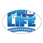 Pro-Life, from conception to Sticker (Oval 50 pk)