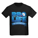 Pro-Life, from conception to Kids Dark T-Shirt