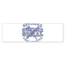 OFFICIAL SUMMER SOCIAL FOOD T Bumper Sticker