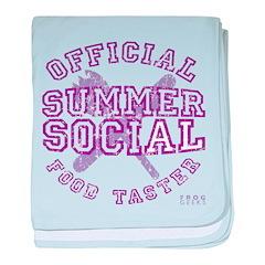 OFFICIAL SUMMER SOCIAL FOOD T baby blanket
