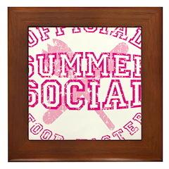 OFFICIAL SUMMER SOCIAL FOOD T Framed Tile