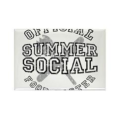 OFFICIAL SUMMER SOCIAL FOOD T Rectangle Magnet (10
