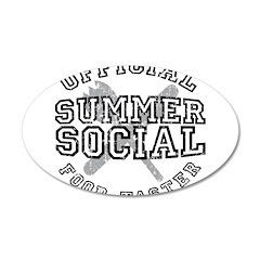 OFFICIAL SUMMER SOCIAL FOOD T 22x14 Oval Wall Peel