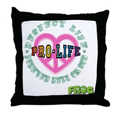 FROG GEEKS PRO-LIFE Throw Pillow