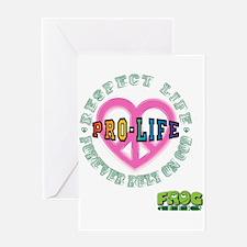 FROG GEEKS PRO-LIFE Greeting Card