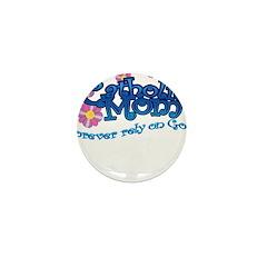 Catholic Mom Flowers Mini Button (10 pack)