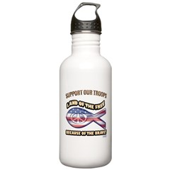 SUPPORT OUR TROOPS! Water Bottle