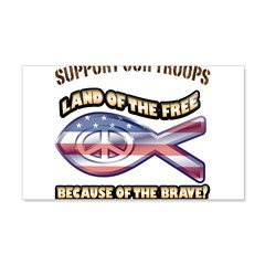 SUPPORT OUR TROOPS! 22x14 Wall Peel