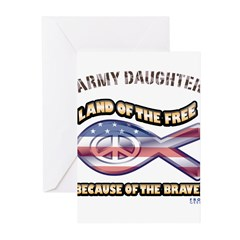 ARMY DAUGHTER Greeting Cards (Pk of 20)