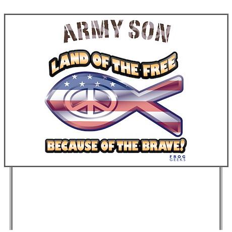 Army Son Yard Sign