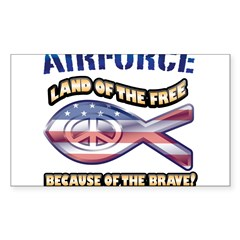 Airforce Family Sticker (Rectangle 10 pk)