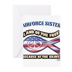 Airforce Sister Greeting Cards (Pk of 10)