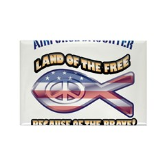 Airforce Daughter Rectangle Magnet (100 pack)