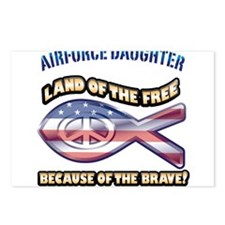 Airforce Daughter Postcards (Package of 8)