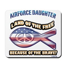 Airforce Daughter Mousepad