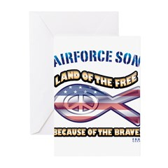 Airforce Son Greeting Cards (Pk of 20)