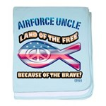 Airforce Uncle baby blanket